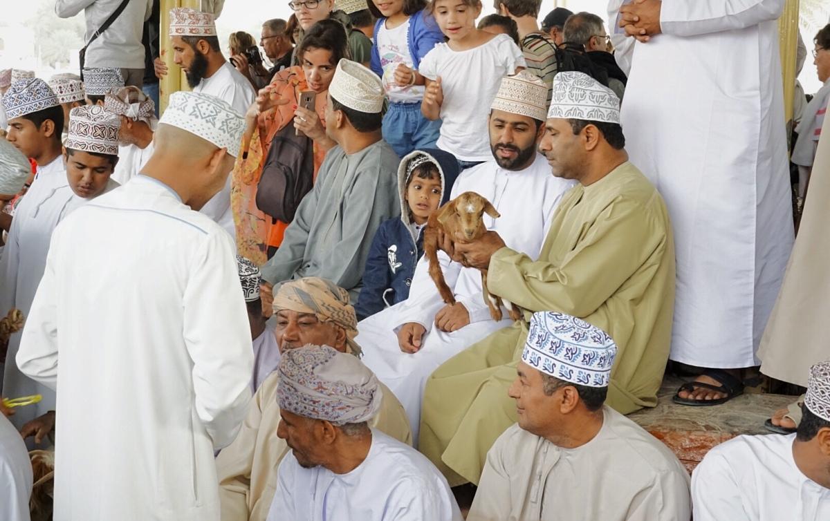 Tag 17: Nizwa - Männer, die auf Ziegen starren